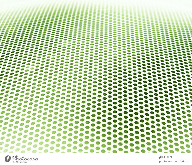Raster Fahndung Stil Design Sieb Linie Netz Netzwerk grün Loch Lochblech Verlauf Emotiondesign Punkt Farbfoto mehrfarbig Nahaufnahme Makroaufnahme abstrakt
