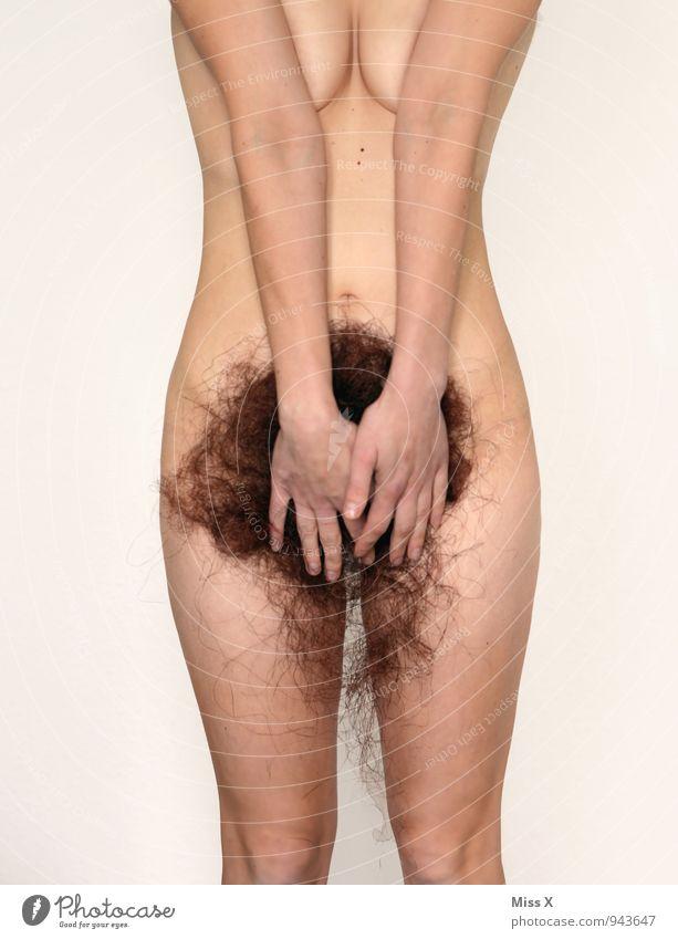 Natur pur schön Körperpflege Haare & Frisuren Haut Mensch Junge Frau Jugendliche Erwachsene Frauenbrust 1 18-30 Jahre brünett langhaarig Behaarung nackt Gefühle