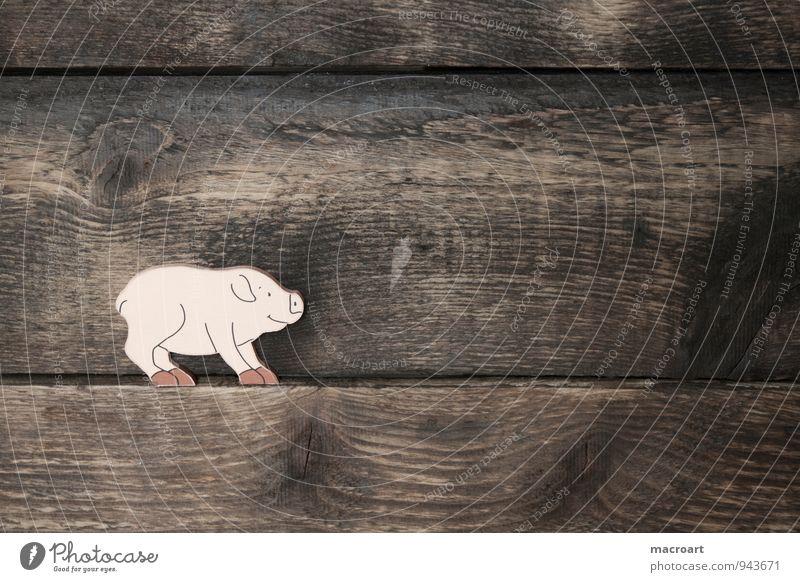 Schwein gehabt Tier Hintergrundbild Holz Glück Symbole & Metaphern Übergewicht Holzbrett dick Glücksbringer Ferkel Holzarbeiten