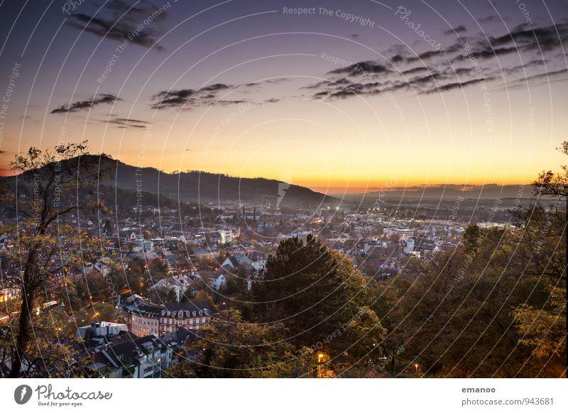 Freiburg Ferien & Urlaub & Reisen Tourismus Ferne Freiheit Städtereise Berge u. Gebirge wandern Natur Landschaft Himmel Wolken Horizont Herbst Klima Wetter