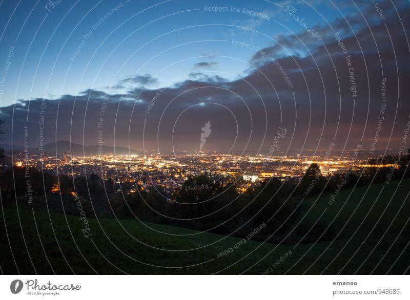 eines Abends Ferien & Urlaub & Reisen Tourismus Ausflug Ferne Freiheit Städtereise Berge u. Gebirge wandern Natur Landschaft Luft Himmel Wolken Gewitterwolken