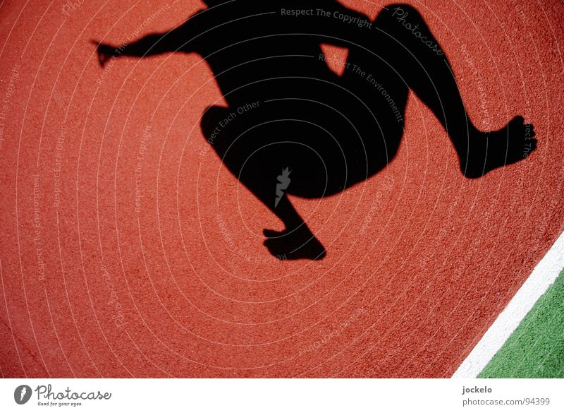 JUMP DA TENNIS Mann Sonne grün Freude Sport springen Spielen Bewegung Luft Linie orange Tennis Barfuß Ballsport Wimbledon