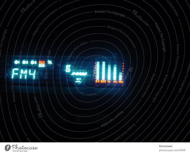 Display-Stereoanlage Nacht Elektrisches Gerät Technik & Technologie Musikanlage Anzeige