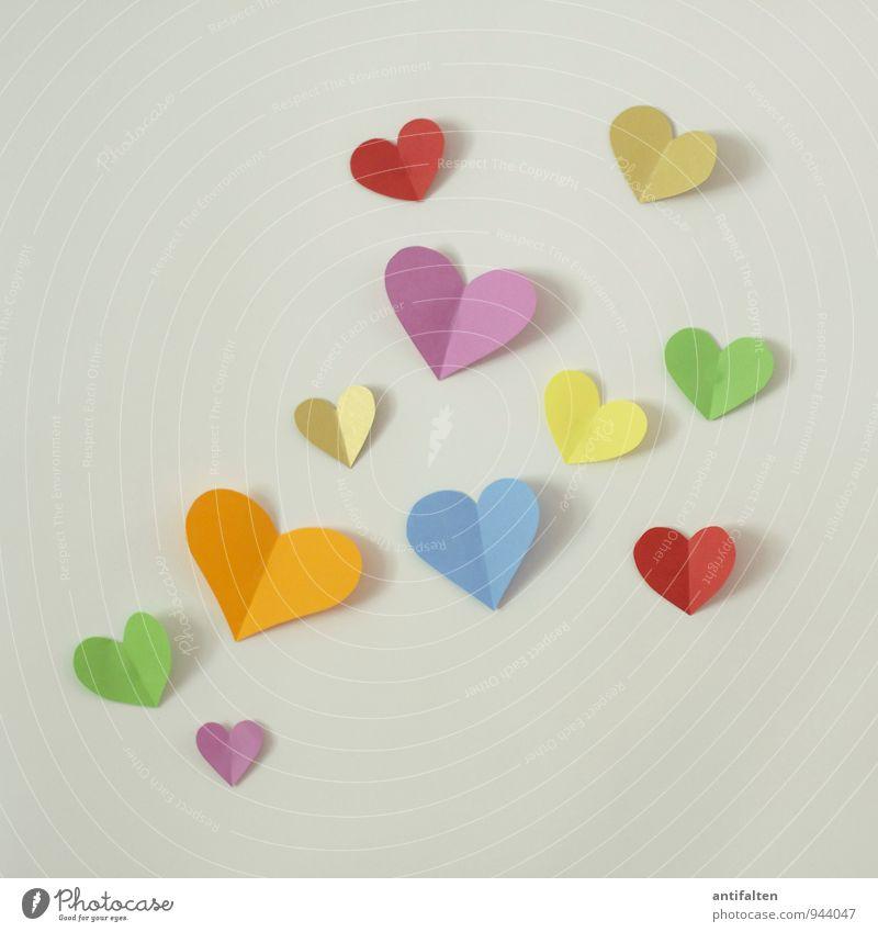 flying hearts Freizeit & Hobby Basteln Handarbeit Flirten Schreibwaren Papier Zettel Zeichen Herz herzförmig Kommunizieren ästhetisch Fröhlichkeit natürlich