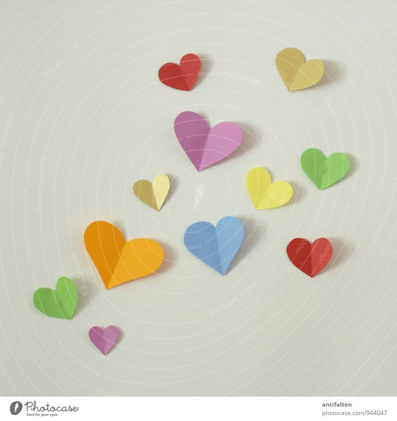 flying hearts schön grün rot Gefühle Liebe natürlich Glück Freizeit & Hobby gold verrückt ästhetisch Fröhlichkeit Kommunizieren Herz Lebensfreude Papier