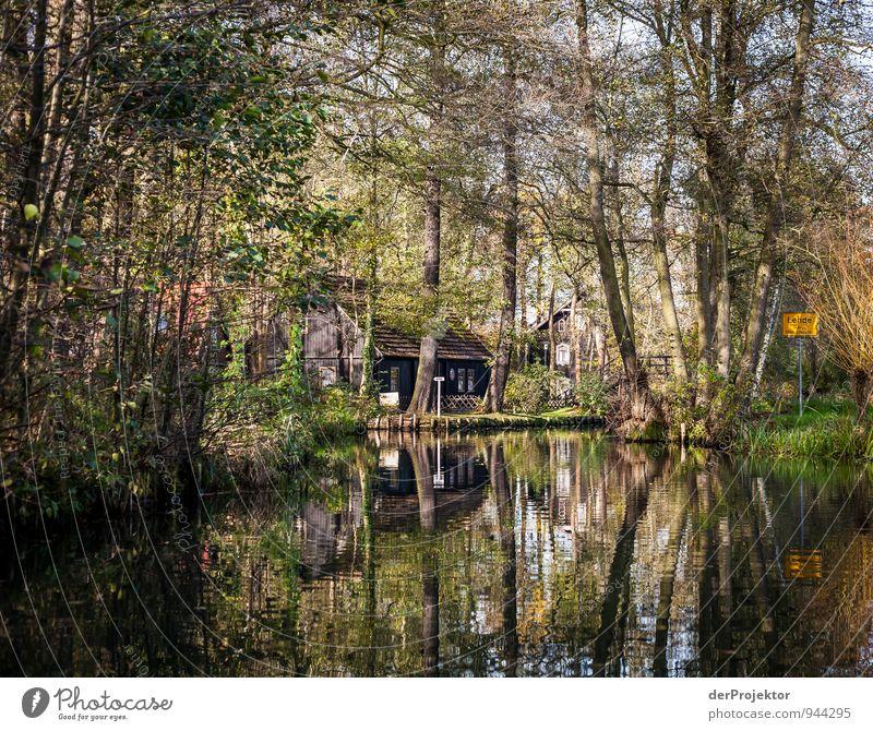 Ortseingang mit Wasserzugang Natur Ferien & Urlaub & Reisen Pflanze Landschaft Haus Wald Umwelt Leben Herbst Gefühle Stimmung Freizeit & Hobby Tourismus Ausflug Urelemente Fluss