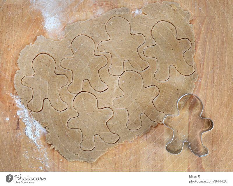 Backtag Mann Lebensmittel Freizeit & Hobby Ernährung Kochen & Garen & Backen süß lecker Backwaren Teigwaren roh Plätzchen Mehl Weihnachtsgebäck Lebkuchen