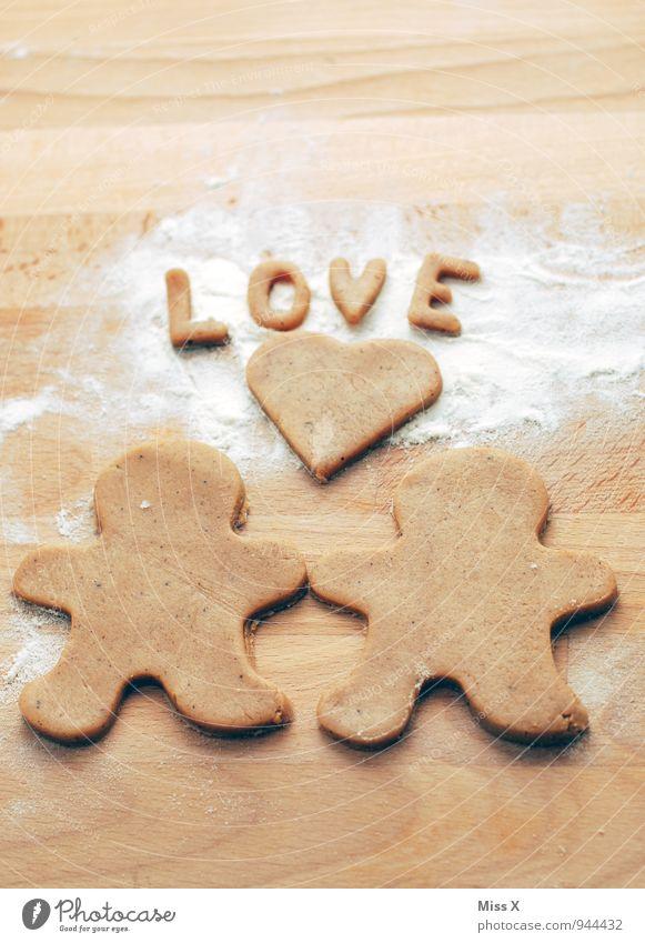 In Liebe Lebensmittel Teigwaren Backwaren Ernährung Freundschaft Paar Partner 2 Mensch Kitsch lecker süß Gefühle Stimmung Sympathie Zusammensein Verliebtheit