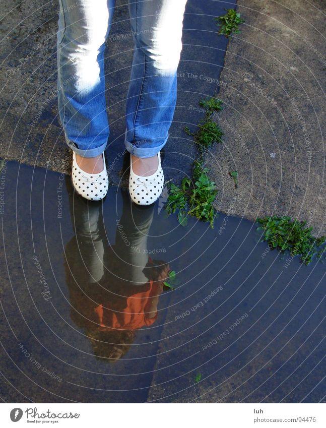 New Shoes Schuhe gepunktet Reflexion & Spiegelung Pfütze mehrfarbig Jugendliche Sommer shoes new Punkt Wasser water points dots reflection child luh Ballerina
