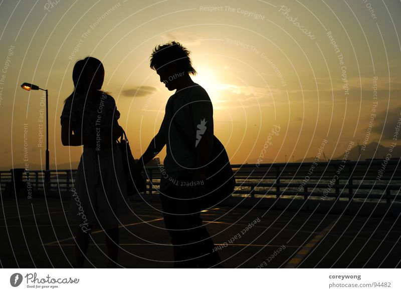 Lovers' silhouette Silhouette