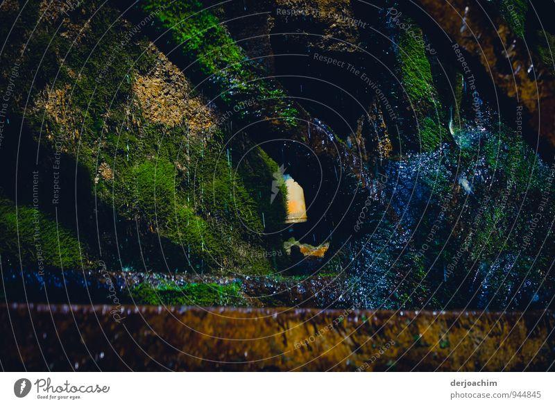 Mühlenrad - Nabe, Eisennabe eines alten Mühlenrades. Von Moos bedeckt. Heroldsmühle Landkreis Bamberg im Trockental.7,20 Durchmesser. Größtes eisernes Mühlenrad Deutschlands.Mittelschschlächtig.
