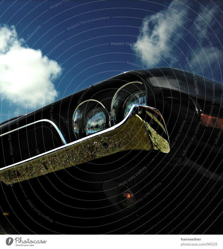 bring mich an den horizont Oldtimer fantastisch schwarz KFZ Chrom lecker fahren Ferien & Urlaub & Reisen Motor stark Heck Rücklicht Muscle-Car Motorsport