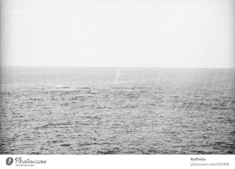 grau Urelemente Wasser Himmel Wolkenloser Himmel Horizont Schönes Wetter Meer Bewegung ruhig Gran Canaria Las Palmas de Gran Canaria Atlantik analog