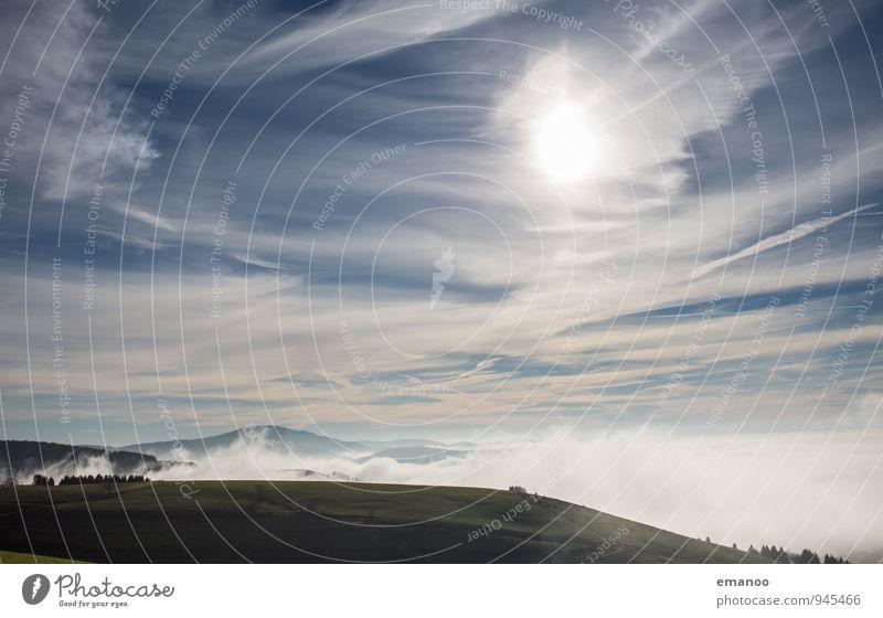 Nebelland Ferien & Urlaub & Reisen Ferne Freiheit Berge u. Gebirge wandern Natur Landschaft Luft Wasser Himmel Wolken Horizont Sonne Sonnenlicht Herbst Klima