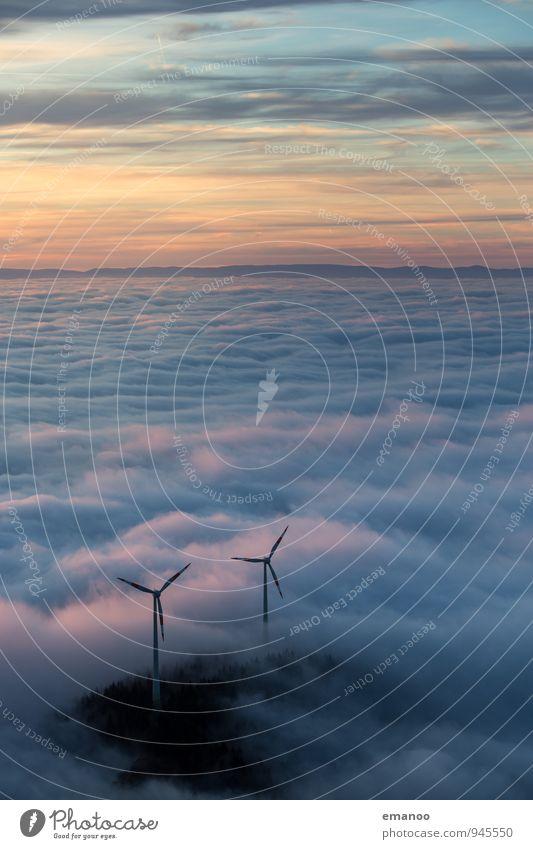 Wolkenkraft Himmel Natur Ferien & Urlaub & Reisen Landschaft Ferne Umwelt Berge u. Gebirge Herbst Freiheit Horizont Energiewirtschaft Wetter Nebel Wind wandern