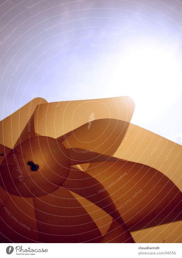 Dreh dich! Spielen drehen Spielzeug durchsichtig blenden Licht Gegenlicht Freizeit & Hobby Sonne Wind Schatten Himmel Bewegung Beleuchtung Freude Windrad