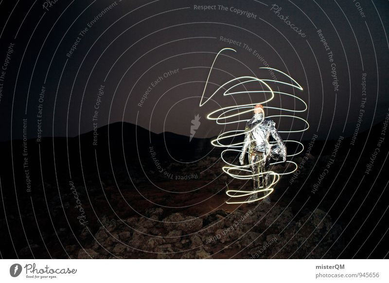 Beam me up. Frau Himmel (Jenseits) Beleuchtung Kunst Horizont Energiewirtschaft Design Technik & Technologie Zukunft Kreativität Abenteuer einzigartig Weltall Strahlung bizarr Landen