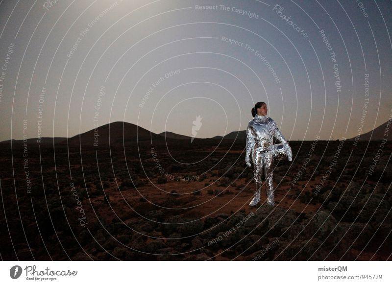 Which Way. Mensch Frau Einsamkeit Reisefotografie Kunst Erfolg ästhetisch Zukunft Kreativität Stern Abenteuer Ewigkeit Weltall Sehnsucht Fernweh Futurismus