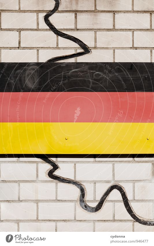 Mauergeschichte Bildung Wand Fahne Freiheit Frieden Gesellschaft (Soziologie) Kontrolle Macht Politik & Staat protestieren Schutz Konflikt & Streit Trennung