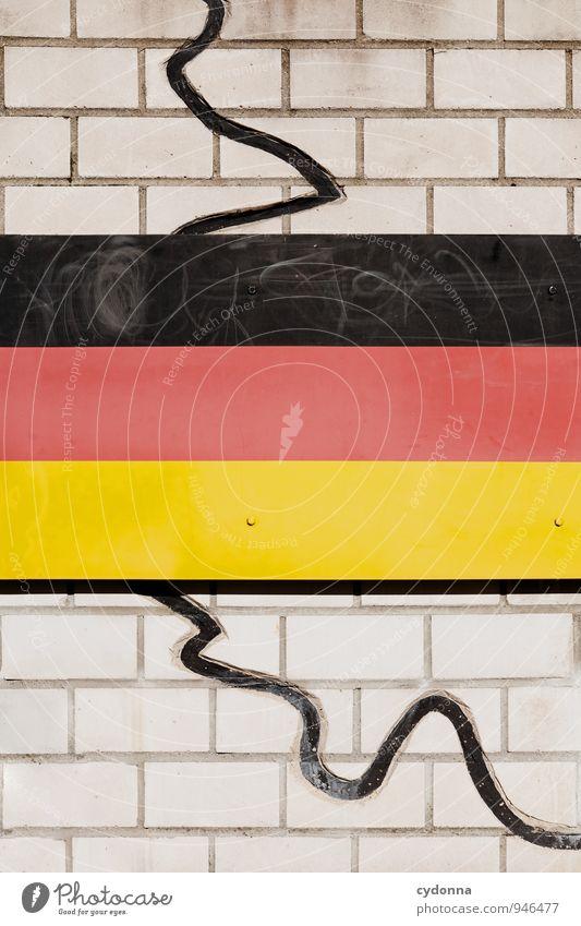 Mauergeschichte Wand Wege & Pfade Mauer Freiheit Zeit Deutschland Zukunft Wandel & Veränderung Macht Schutz Deutsche Flagge Bildung Frieden Fahne Vergangenheit Zusammenhalt