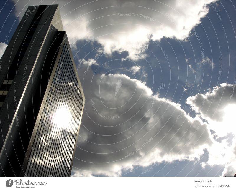 URBAN LEGEND Wolken Himmel Haus Hochhaus Gebäude glänzend Reflexion & Spiegelung beeindruckend einfach Arbeit & Erwerbstätigkeit Frankfurt am Main Götter