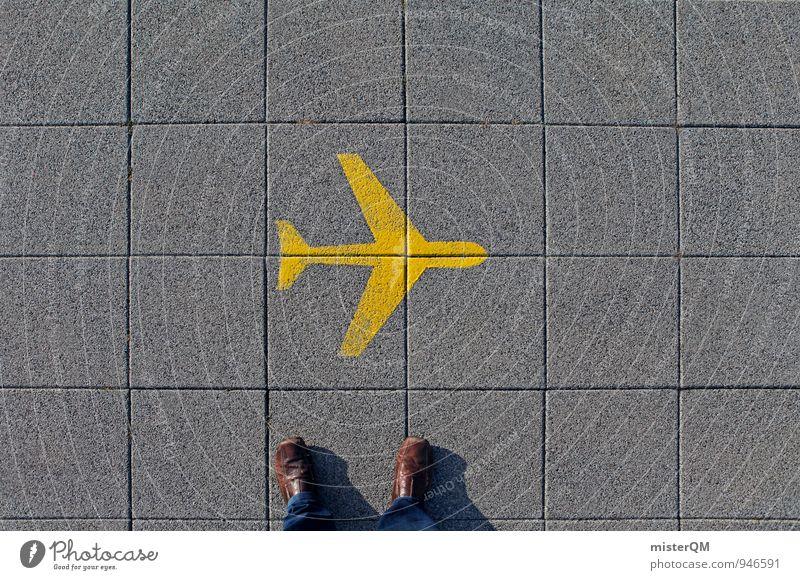Sommerflieger I Ferien & Urlaub & Reisen Ferne Reisefotografie Kunst fliegen Fuß Schilder & Markierungen Luftverkehr ästhetisch Flugzeug Fernweh Flugangst