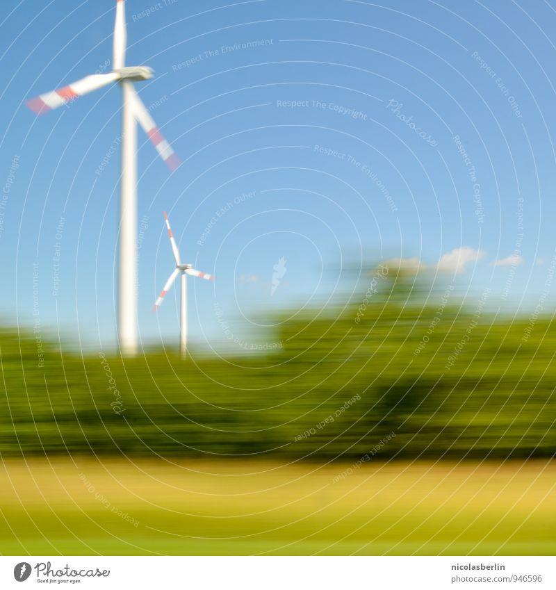 Pusteblume Ferien & Urlaub & Reisen Ausflug Ferne Fortschritt Zukunft Energiewirtschaft Erneuerbare Energie Windkraftanlage Industrie Umwelt Natur Himmel