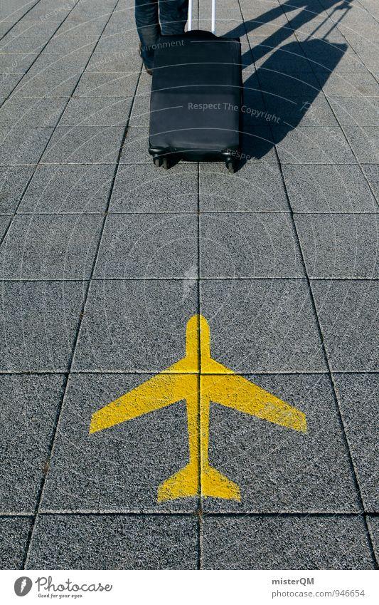 Sommerflieger II Kunst ästhetisch Business Luftverkehr Flugzeug Flughafen Flügel Fluggerät Flugplatz Flugangst Ferne Fernweh Ferien & Urlaub & Reisen