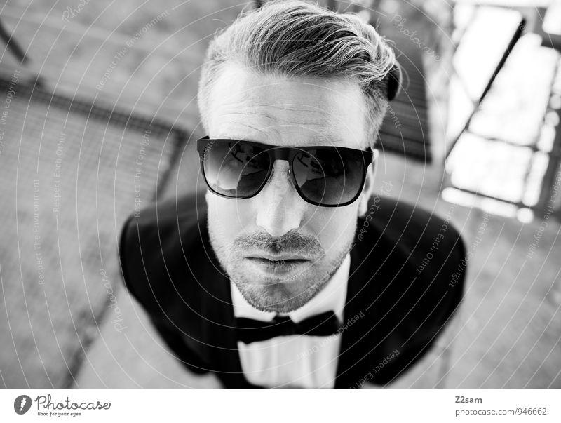 Styler Jugendliche schön Junger Mann Erwachsene Stil Mode maskulin Lifestyle Business elegant blond Erfolg Perspektive Coolness Hemd Anzug