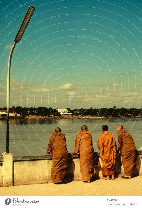 Mönchsgeflüster Religion & Glaube Kraft orange Asien Thailand Buddha Myanmar Geistlicher Buddhismus Laos Mekong