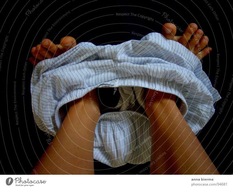 hose runter... Mensch Mann weiß Erwachsene Beine Fuß braun natürlich außergewöhnlich Haut maskulin frisch Fröhlichkeit Bekleidung niedlich Stoff