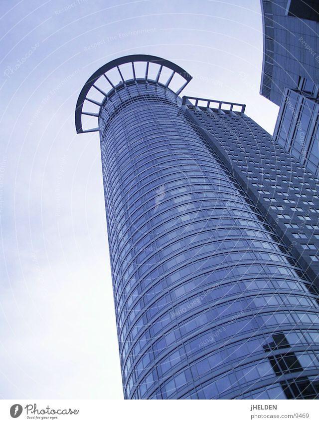 Frankfurt Neue Mainzer blau Stadt Stil Glas Beton modern Hochhaus Stahl Frankfurt am Main Main Versicherung Emotiondesign