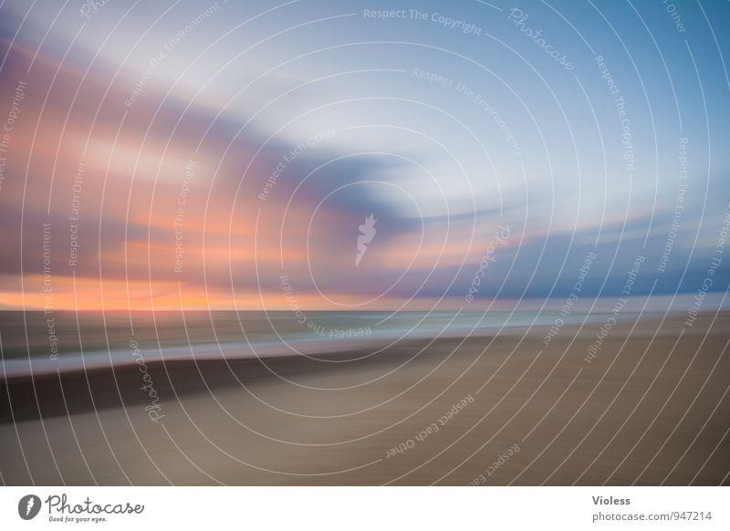 last but not .... Ferien & Urlaub & Reisen Sommer Meer Wellen Küste Strand Nordsee Erholung fantastisch Romantik Unschärfe gemalt mehrfarbig Experiment