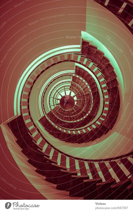 Stockwerk | mir wendelst Architektur Treppe drehen Treppenhaus Treppengeländer aufwärts abwärts Wendeltreppe Flur rund abstrakt