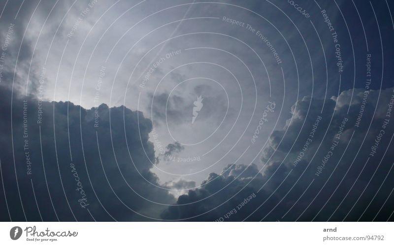 Wolkendrama Himmel Sonne Wolken Regen Wetter Zeichen Gewitter Flucht Sorge ziehen Schleier drohen