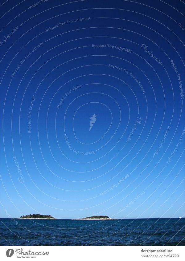 Trauminseln Wasser Himmel Meer blau Sommer Strand Ferien & Urlaub & Reisen ruhig kalt Erholung Freiheit Sand Wärme Küste Wellen Wind