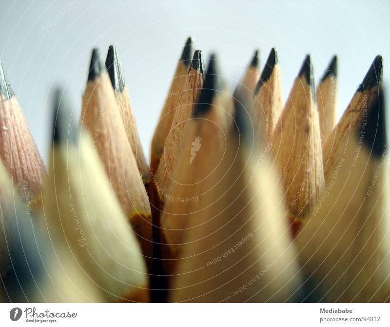 Graphit-Armee Farbe gelb Holz Kunst Arbeit & Erwerbstätigkeit mehrere Spitze Kreativität streichen Bild zeichnen Schreibtisch Schreibstift Anhäufung Bleistift Agentur