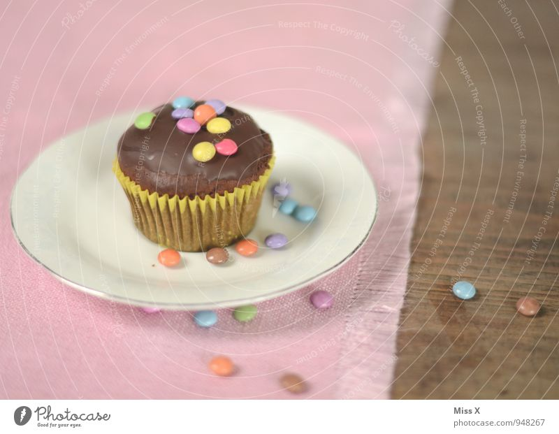 Schokolinsen Lebensmittel Teigwaren Backwaren Kuchen Dessert Süßwaren Schokolade Ernährung Kaffeetrinken Feste & Feiern Geburtstag lecker süß Stimmung