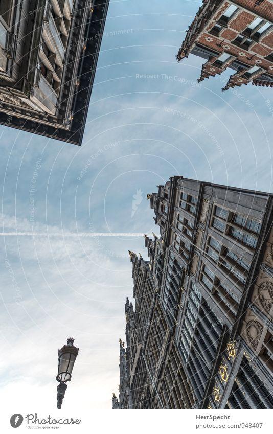 Skyscraper Ferien & Urlaub & Reisen Tourismus Ausflug Sightseeing Städtereise Antwerpen Belgien Stadt Stadtzentrum Altstadt Haus Marktplatz Rathaus Bauwerk