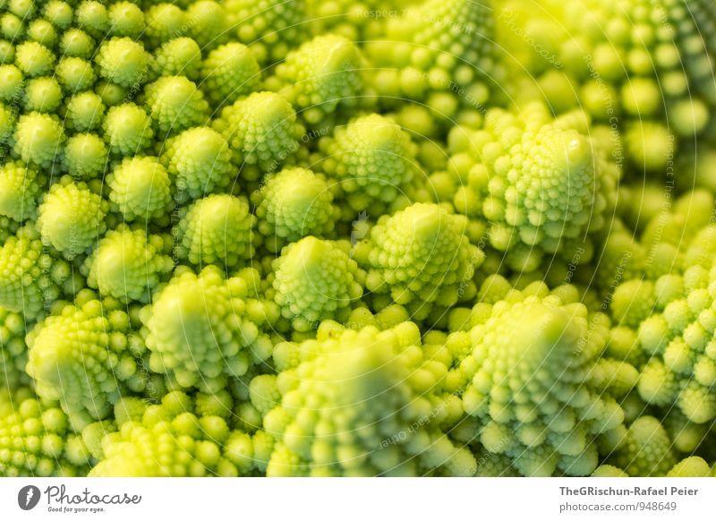 Gemüselandschaft II Lebensmittel gelb grün Romanesco Traumland Märchenlandschaft Berge u. Gebirge edel Ernährung Spitze Muster Farbfoto Innenaufnahme Hügel