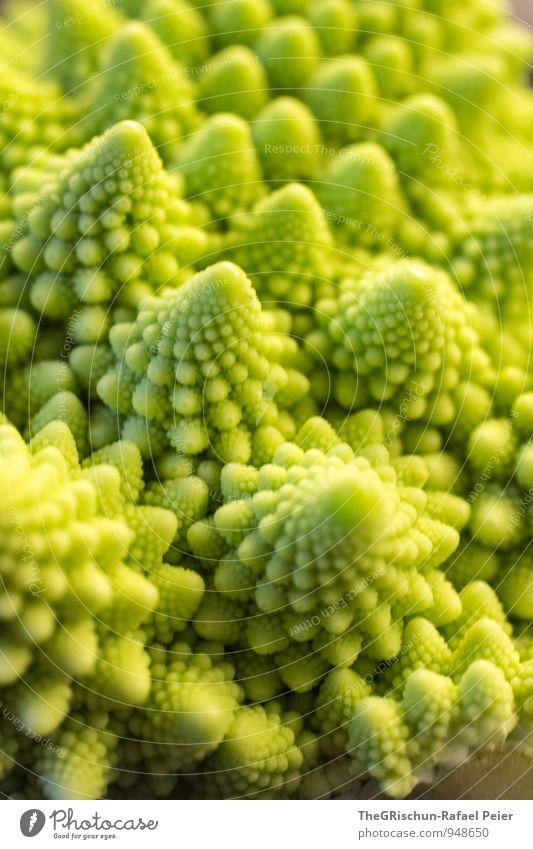 Gemüselandschaft III Lebensmittel gelb grün Romanesco Berge u. Gebirge Traumlandschaft Spitze Stadt Essen essbar roh Ernährung Gesunde Ernährung Gesundheit