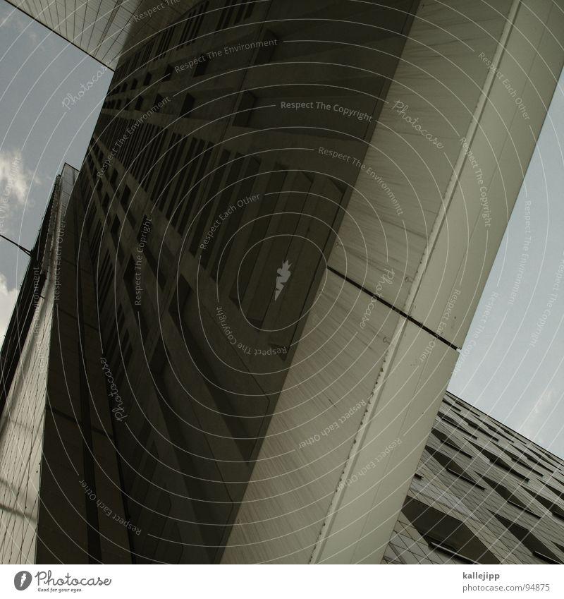 X Himmel Stadt Leben Berlin Fenster Landschaft Architektur Raum Beton Hochhaus Fassade rund Häusliches Leben Balkon Etage Geländer