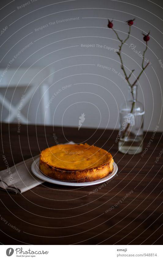 Kürbiskuchen Ernährung süß lecker Süßwaren Kuchen Teller herbstlich Dessert Slowfood Kürbiszeit