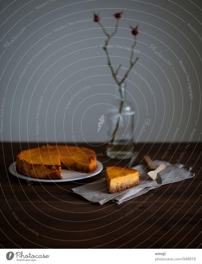 pumpkin pie Ernährung süß lecker Süßwaren Kuchen herbstlich Dessert Torte Kürbis Slowfood Kürbiszeit Tortenstück