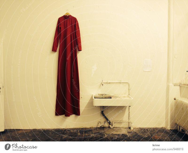 Gewand rot ruhig außergewöhnlich Mode elegant leuchten ästhetisch fantastisch einzigartig Macht Kleid Stoff Glaube Gelassenheit lang Irritation