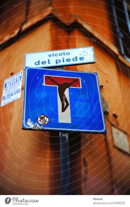 Kreuz(ig)ung Zeichen Schriftzeichen Schilder & Markierungen Hinweisschild Warnschild Verkehrszeichen Glaube Religion & Glaube Idee Kunst skurril Tod