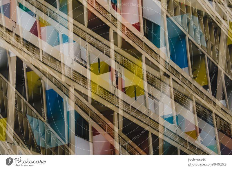 Druckhaus doppelt gemoppelt Stil Architektur Klassische Moderne Gebäude Plattenbau Fassade Sehenswürdigkeit außergewöhnlich eckig fantastisch modern