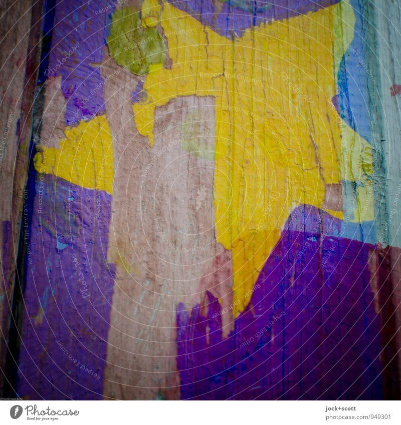 Sternstunde Weihnachten & Advent Farbe gelb Farbstoff Stil Holz Zeit leuchten Kreativität einfach Stern (Symbol) kaputt Wandel & Veränderung violett Glaube nah