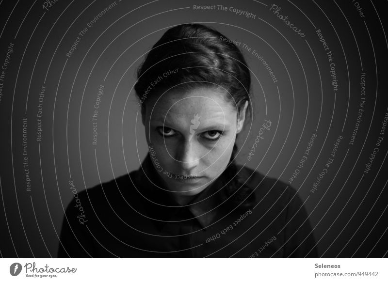 Montag. Toll. Körper Haare & Frisuren Haut Gesicht Mensch feminin Frau Erwachsene 1 18-30 Jahre Jugendliche dunkel Gefühle Stimmung Unglaube Hochmut Stolz