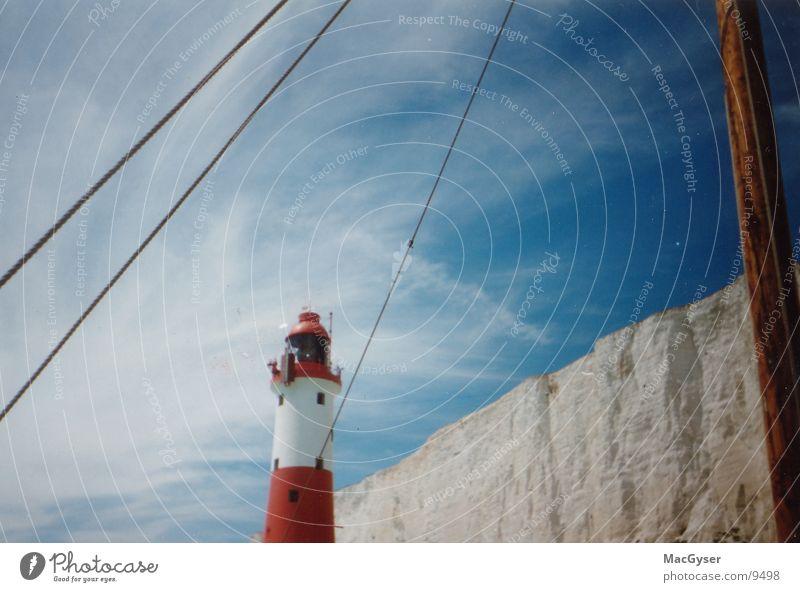 Leuchtturm England Wasserfahrzeug Meer Architektur Signal Himmel